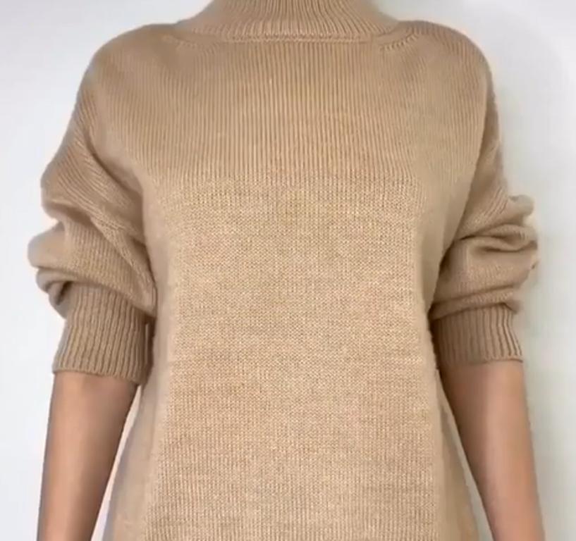 Остаюсь женственной даже зимой: поверх платья надеваю свитер и хитренько его закрепляю