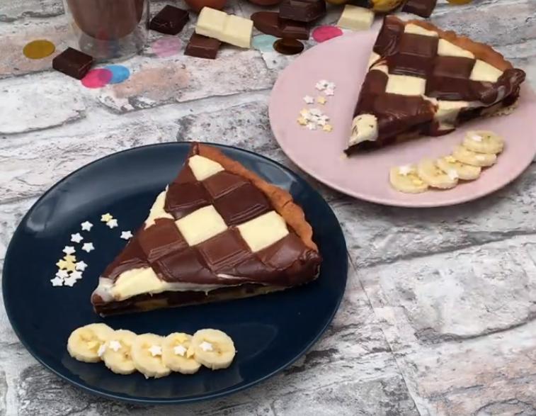 Шахматный  пирог с тремя видами шоколада: красивый десерт с нежнейшим вкусом