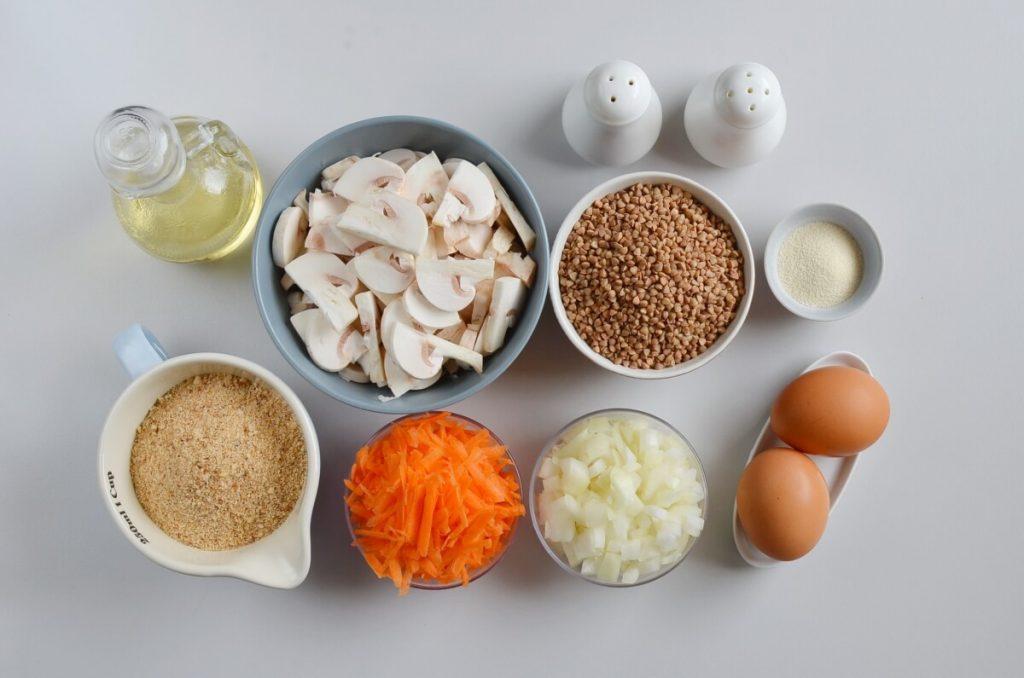 И основное блюдо, и гарнир. Готовим котлетки из гречки и грибов (можно вегетарианцам)