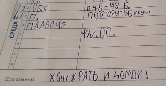 12 смешных записей из школьных дневников: от детей, родителей и учителей