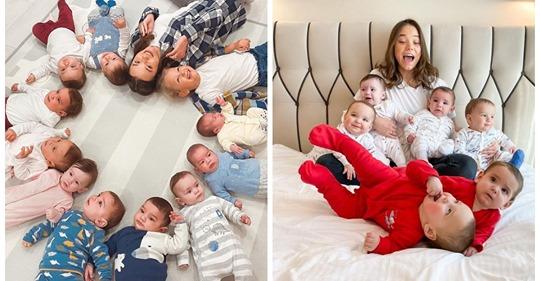 23-летняя россиянка за год стала матерью десяти малышей, и все они — ее биологические дети