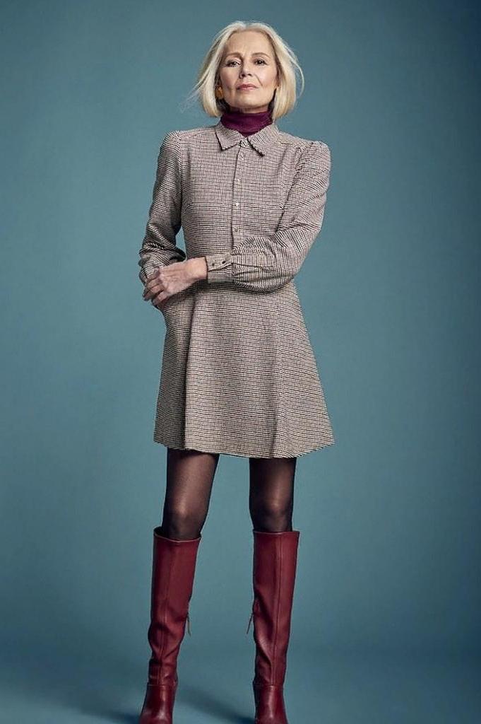 Плиссированная юбка или платье. С чем носить мини женщинам в возрасте 60+ (фото)