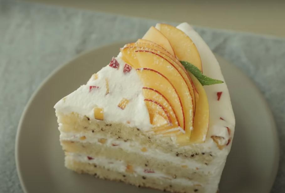 Бисквит с чаем  Эрл Грей  и крем с персиками: учимся готовить необычный торт