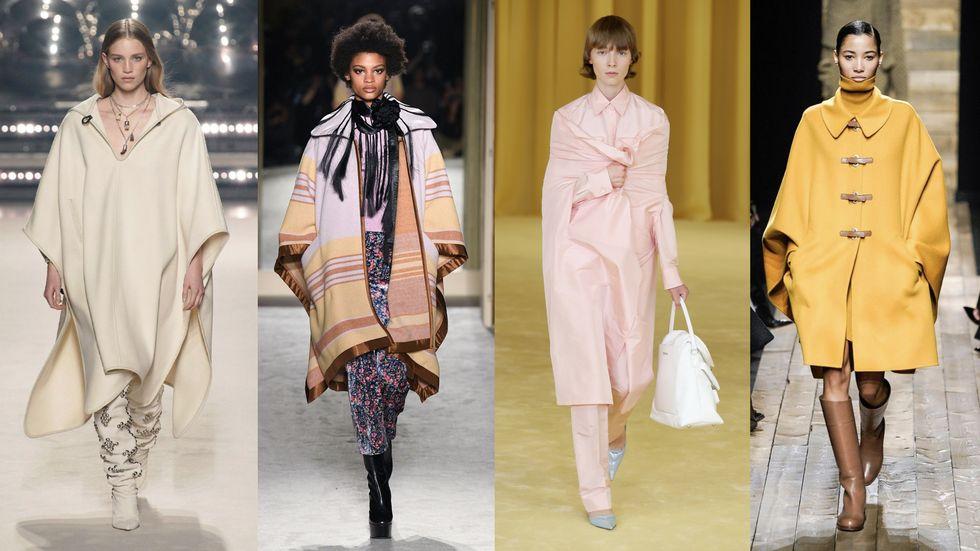 Модельеры считают накидки и пончо самой элегантной одеждой уличной моды 2021: как и с чем носить их в прохладные весенние дни