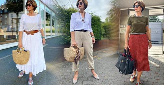 12 элегантных летних образов: что носят сейчас стильные женщины 50+?