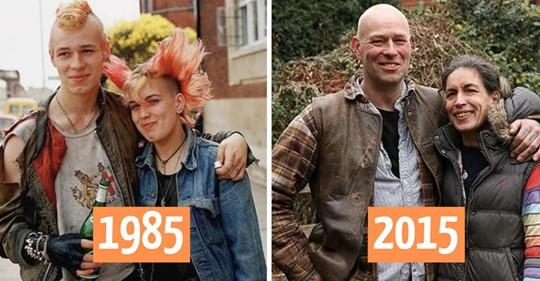 Уличный фотограф отыскал людей, которых снимал 30 лет назад, и воссоздал фото