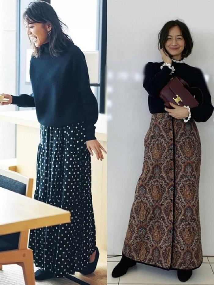 Учимся носить юбки на примере зрелых японских женщин: фото