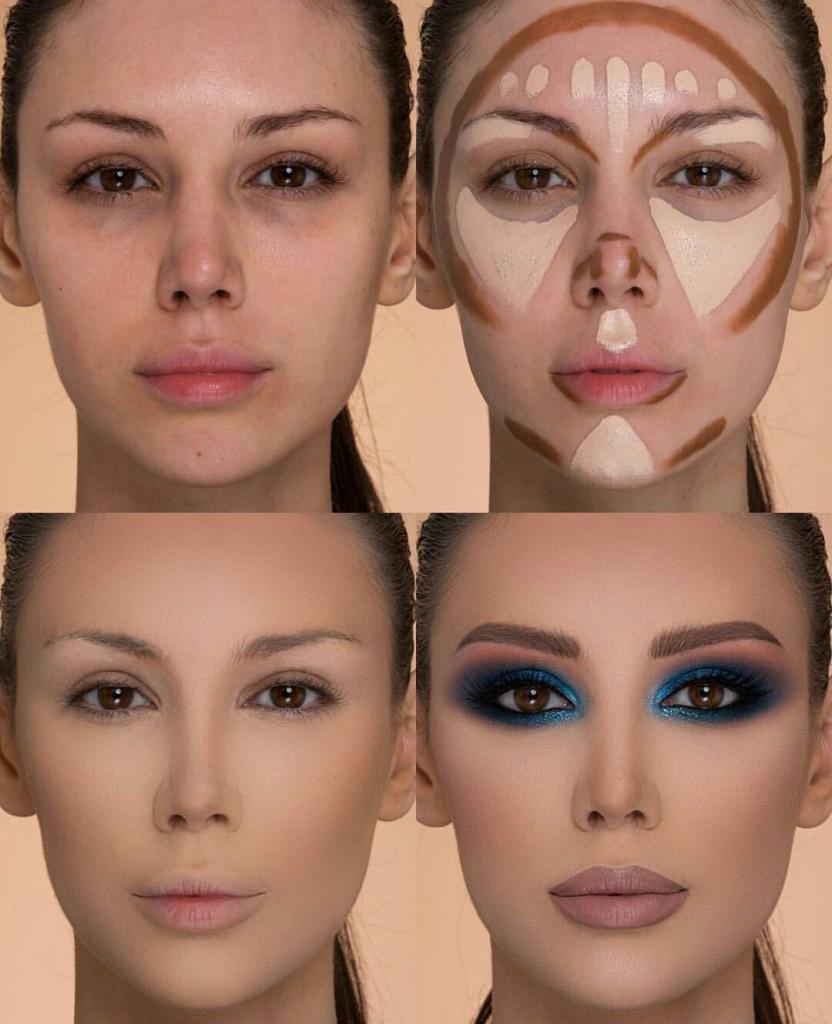 Секреты нанесения макияжа: прячем второй подбородок и еще несколько трюков