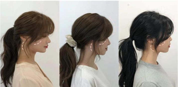 Универсальный способ укладки челки корейских девушек: ее можно легко заплести в любую прическу
