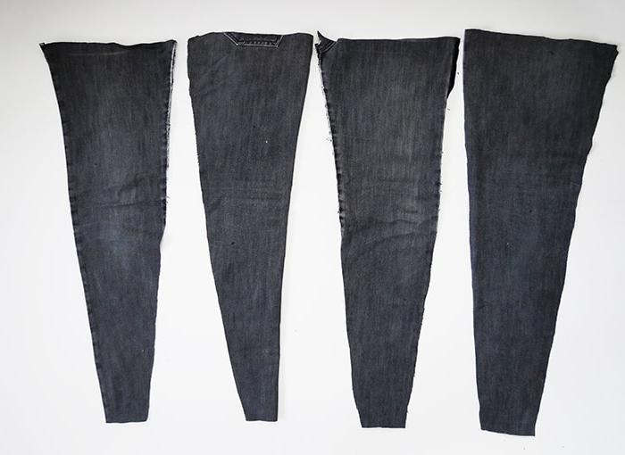Из старых джинсов получится прочный, красивый коврик: делаем своими руками