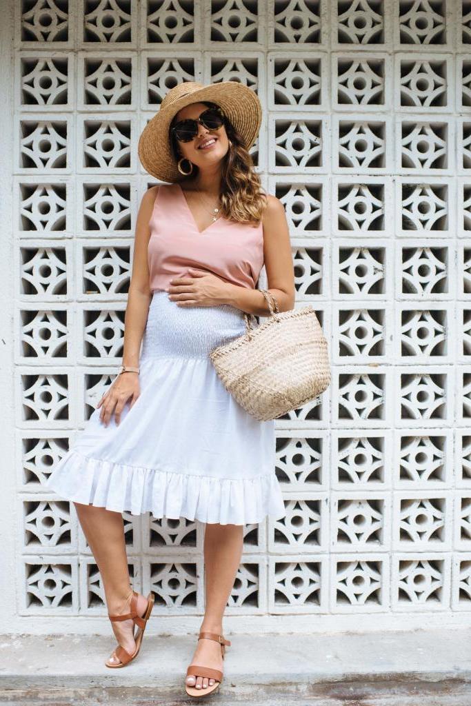 Как сделать симпатичную легкую юбку для беременных: смотрится очень красиво