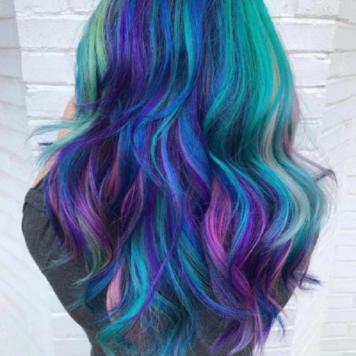 Синий, розовый, фиолетовый: 10 идей яркого окрашивания волос в стиле Galaxy