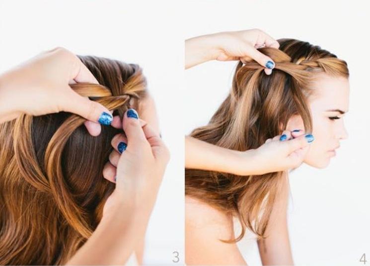 Как быстро собрать длинные волосы в прическу водопад: смотрится очень эффектно