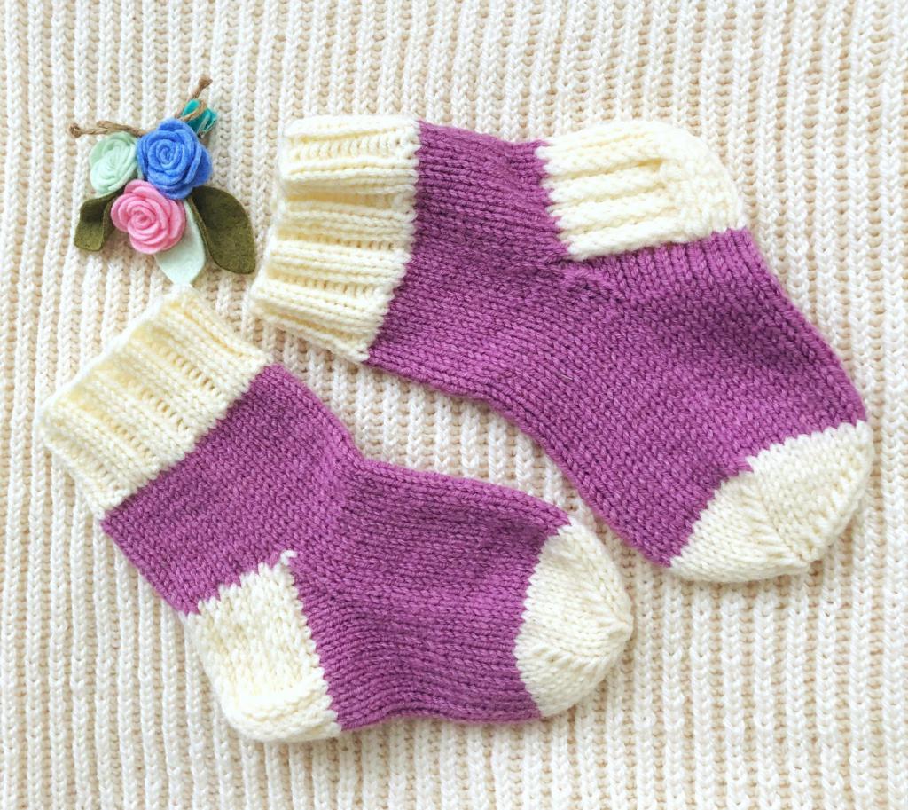 Как правильно вязать детские носки спицами