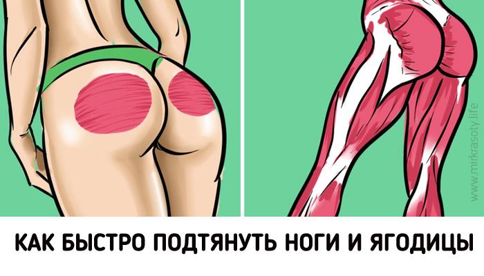 5 упражнений для стройности ног и красивых ягодиц