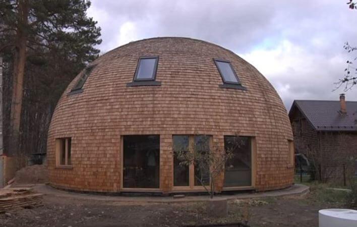 Круглый дом: конструкция стратодезического купола