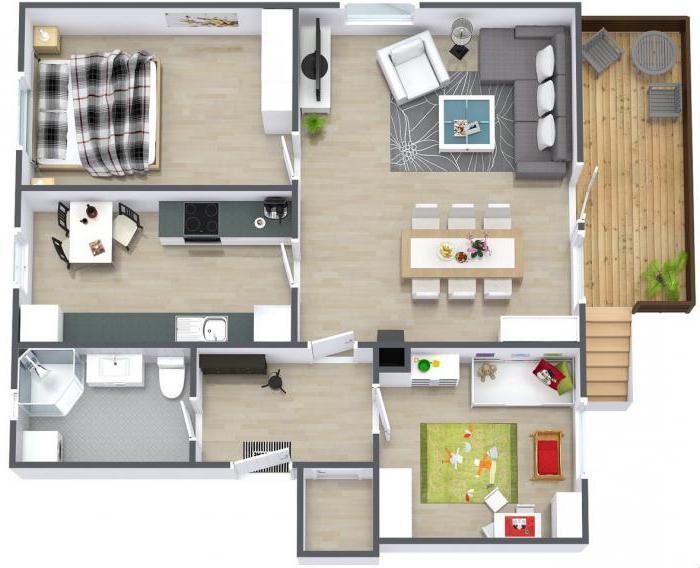 План схема 3 комнатной квартиры 986