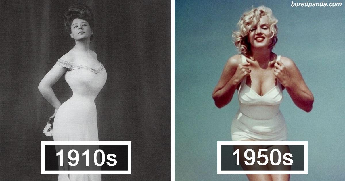 Вот как менялись стандарты идеального женского тела за последние 100 лет!