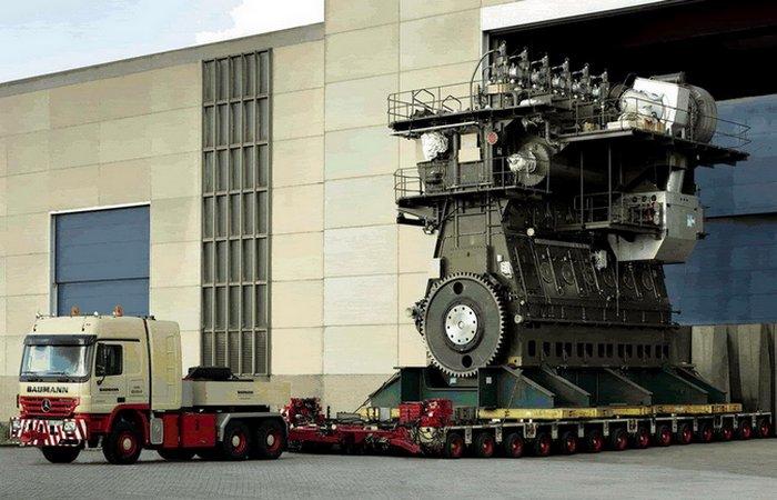 Крупнейший в мире двигатель мощностью 109 000 лошадиных сил