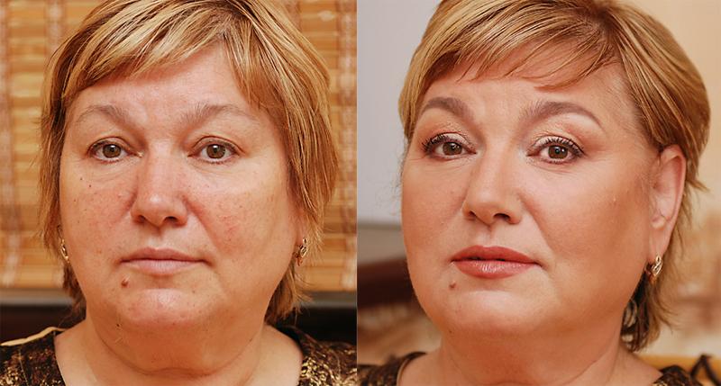 Никакого перламутра, яркого контура и тонких бровей: правила макияжа для тех, кому за 40