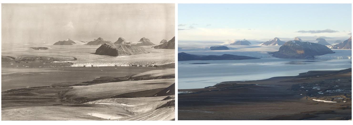 7шокирующих фотографий, которые показывают, какизменение климата сказалось наарктических ледниках