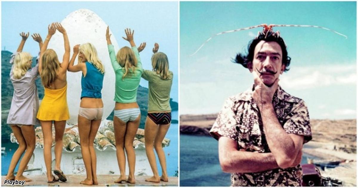 Сексуальная фотосессия Сальвадора Дали для журнала Playboy 1973 года