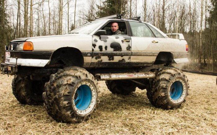 Добрый доктор Франкенштейн: белорус переделал Audi 100 в монстра для покорения бездорожья