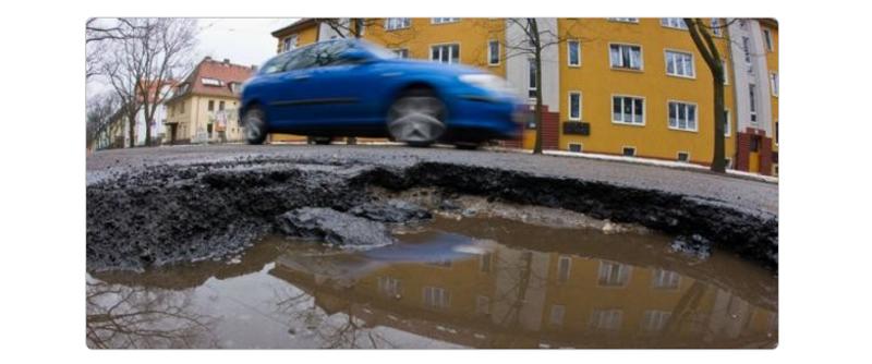 Дороги Германии после  русской зимы
