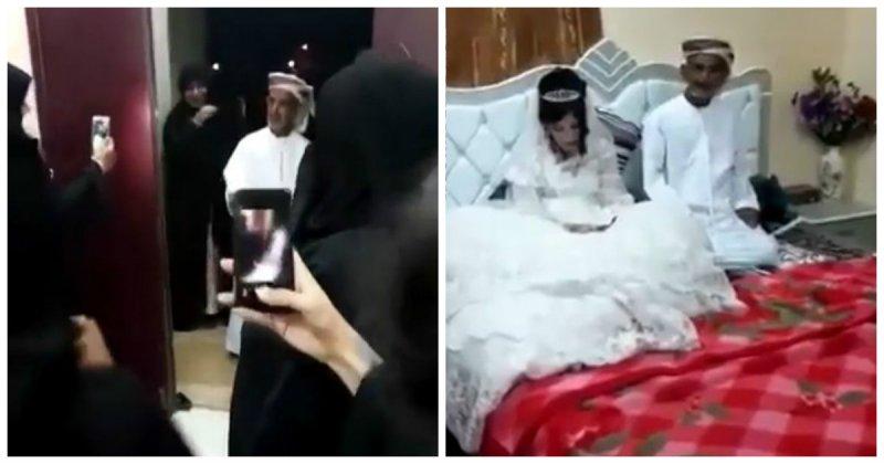 Пользователи совсего мира возмущены свадьбой 80 летнего старика и12 летней девочки