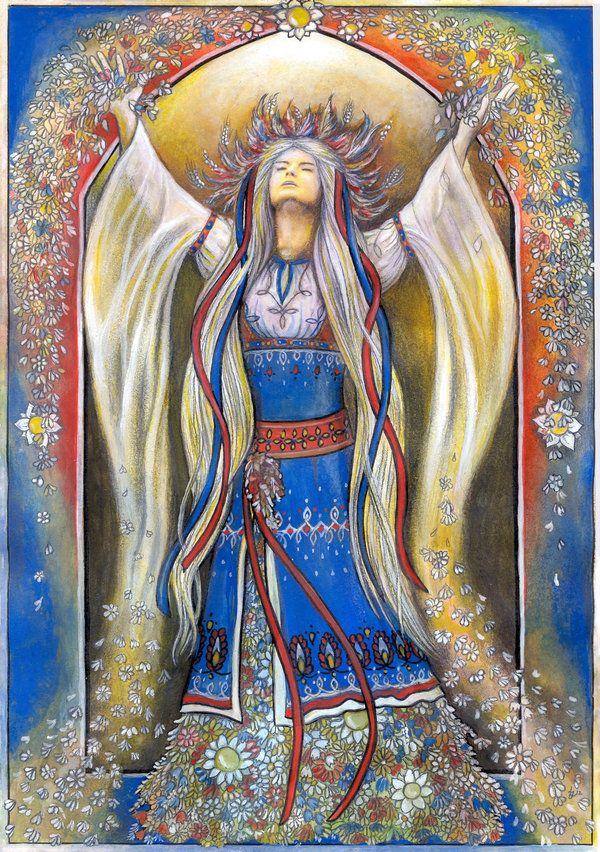 Славянская богиня Веста   символ обновления