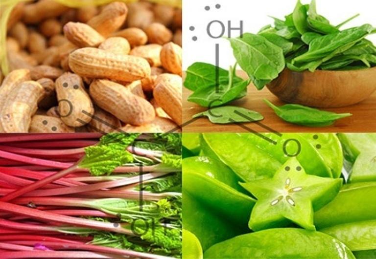 Таблица содержания оксалатов в продуктах питания