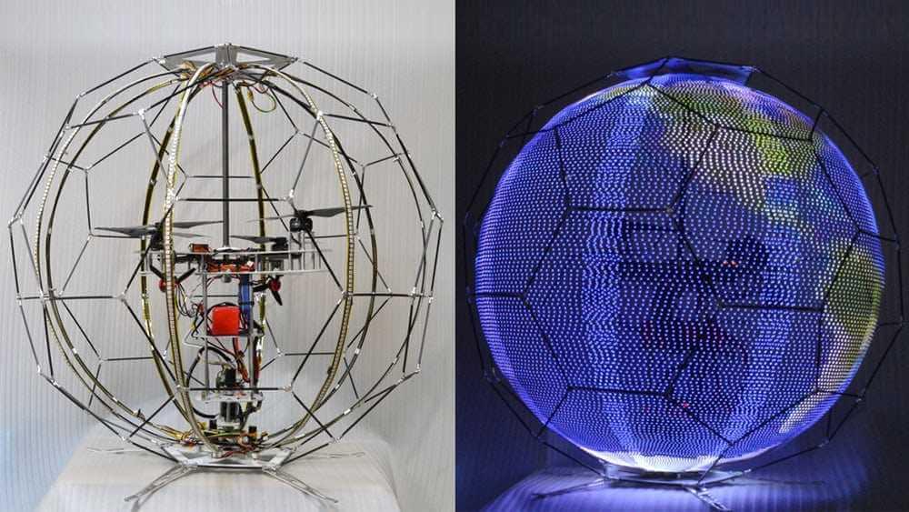 Японские ученые создали летающий дисплей