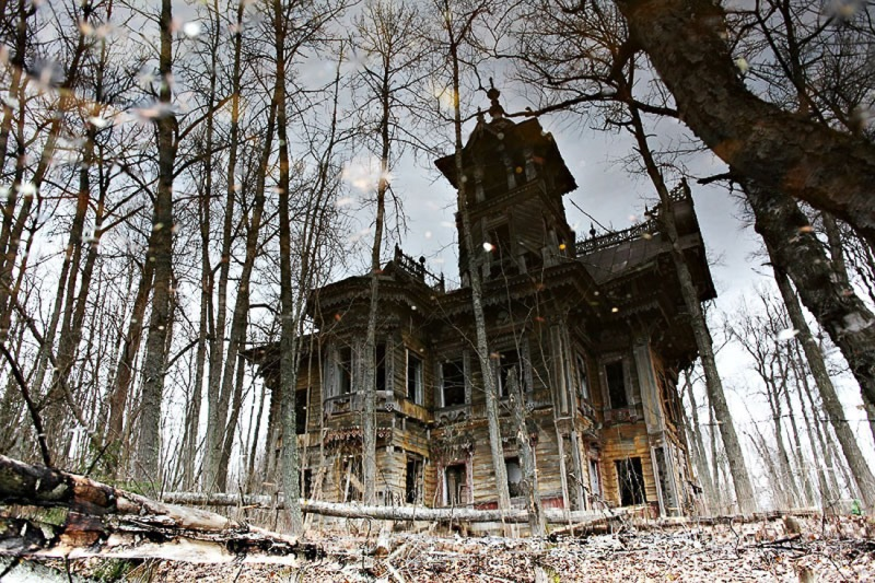 Непростая история деревянного особняка XIXвека, забытого посреди дремучего леса