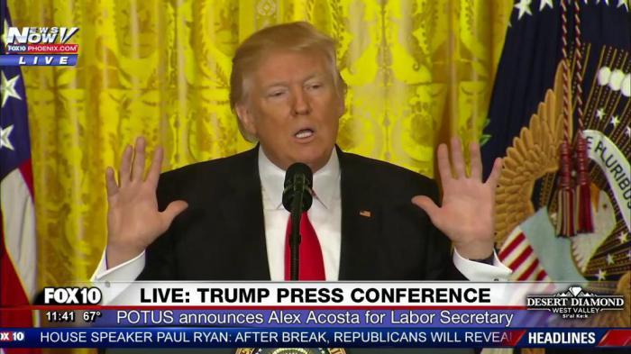 Трамп дал свою самую необычную пресс конференцию