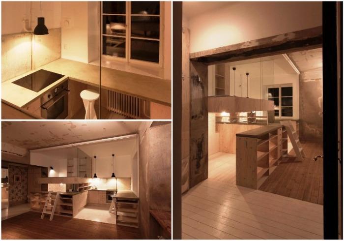 Заброшенный склад превратили в комфортную квартиру с неординарным интерьером