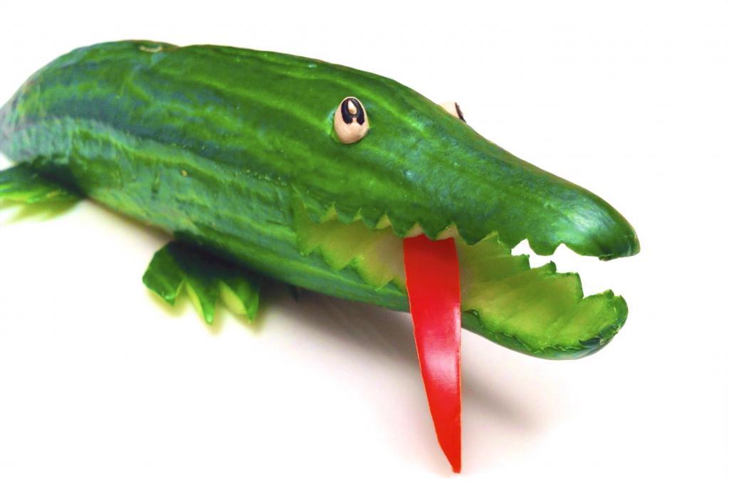 Поделка змея из овощей