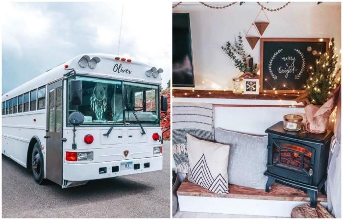 Семейная пара поменяла свой дом и бизнес ...на кочевую жизнь в переделанном школьном автобусе