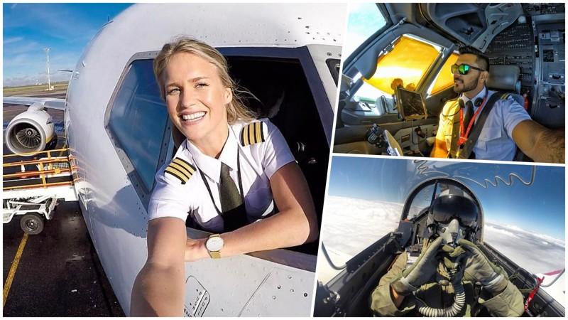 Чтопубликуют всвоих аккаунтах пилоты самолётов