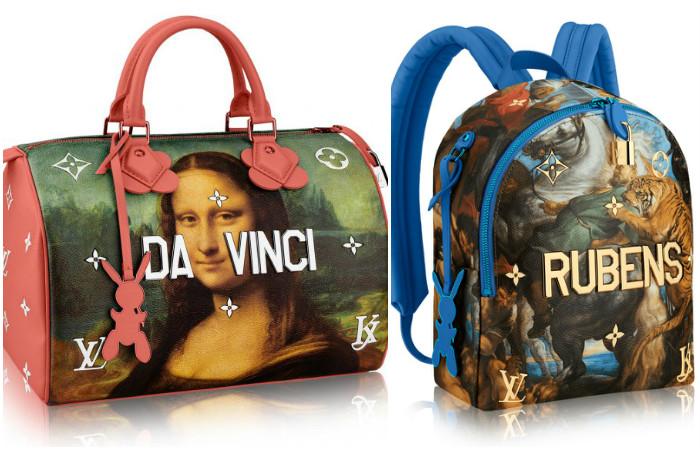 На грани китча: как выглядит «классическая» коллекция сумок от Louis Vuitton и Джеффа Кунса