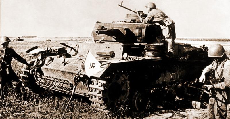 Танковые потери вермахта запервый месяц 1941 г