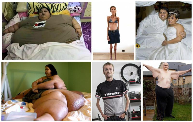 Самые толстые исамые худые люди мира