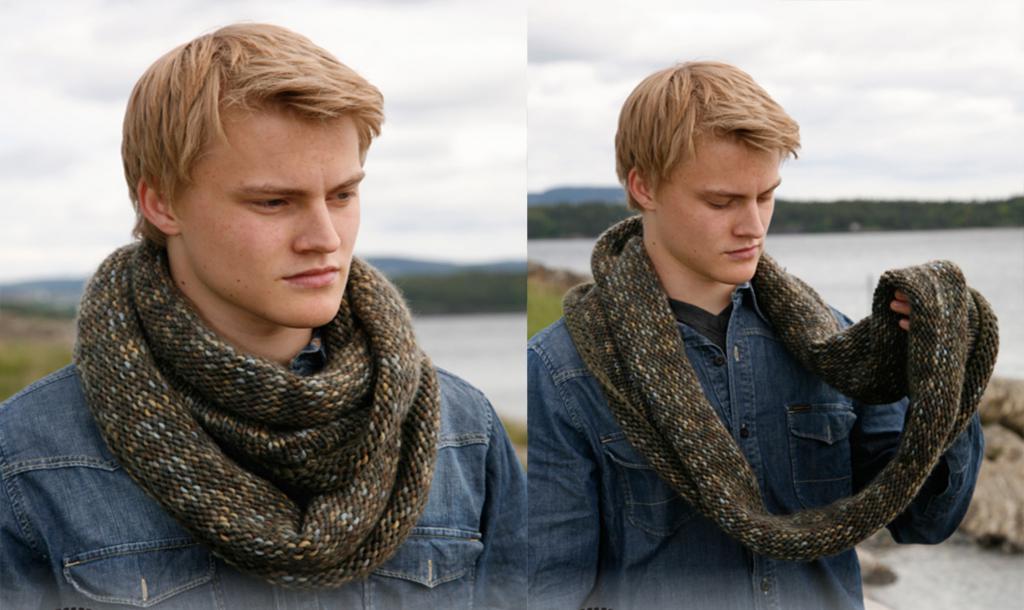 мужской вязаный шарф узоры спицами описание и схемы