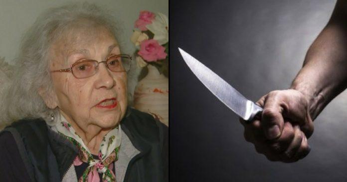 Вор попытался напасть на 88 летнюю пенсионерку, но ее слова заставили его удирать в панике!