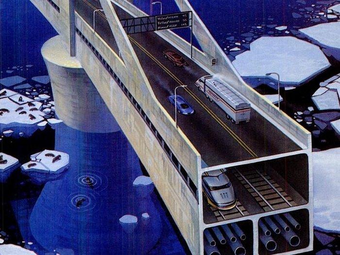 10 проектов межконтинентальных мостов и тоннелей, осуществление которых вполне реально