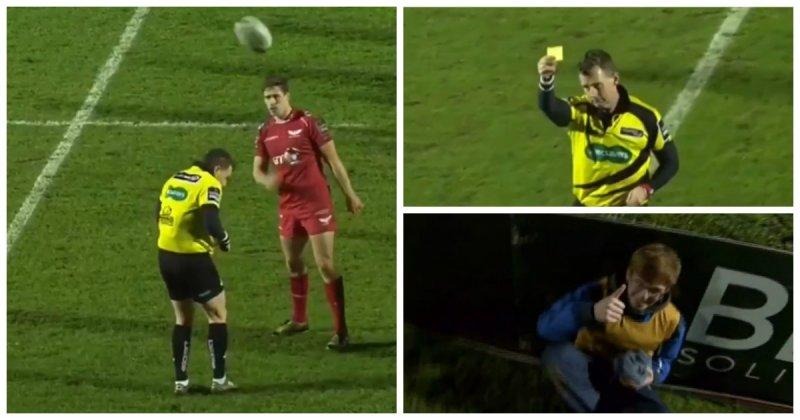 Судья показал желтую карточку мальчику, подающему мячи