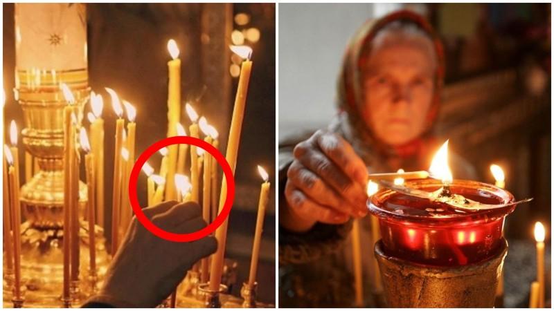 Вотпочему нельзя вцеркви поджигать свою свечу отрядом стоящей