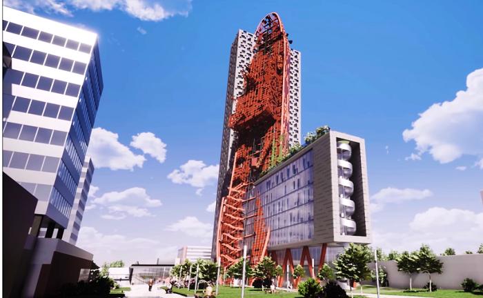 Самое высокое здание в Праге станет предупреждением о последствиях глобального потепления