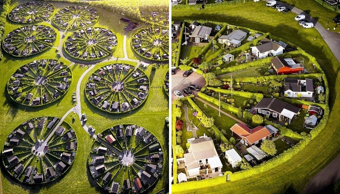 Завораживающие круги в пригороде Копенгагена оказались утопающем в зелени городом-садом
