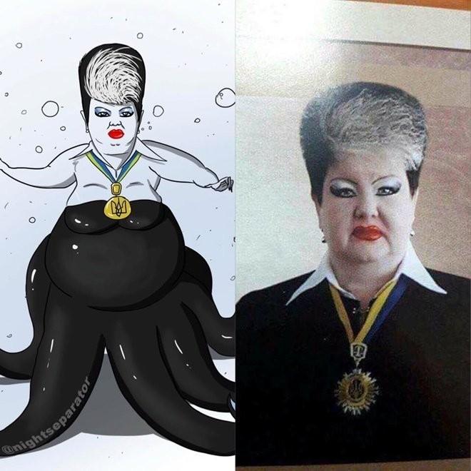 Украинская судья Алла Бандура получила прозвище Джокер из за своей эффектной внешности