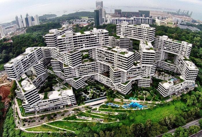 9 фактов о жилом комплексе Сингапура, больше похожем на разбросанные кубики LEGO